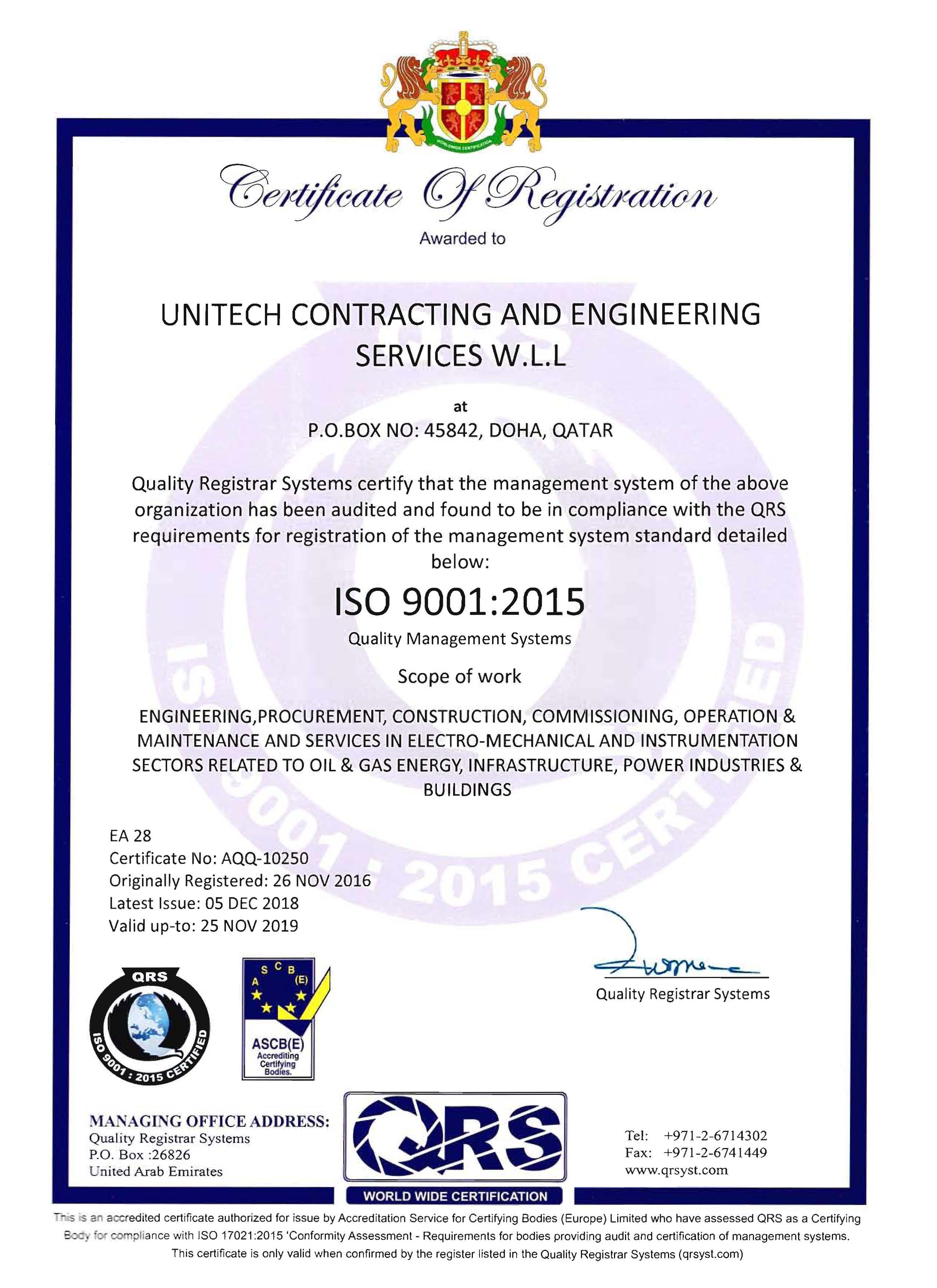 UNITECH - Contracting & Engineering Services W L